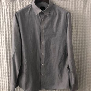 H&M Slim Fit Grey Button Down